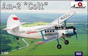 A-Model-From-Russia Antonov An2 Colt Multipurpose STOL Aircraft Plastic Model Airplane Kit 1/144 Scale #1422