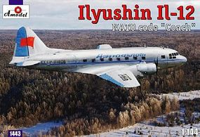 A-Model-From-Russia IL12 NATO Coach Soviet Passenger/Transport Plastic Model Airplane Kit 1/144 Scale #1443
