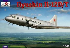 A-Model-From-Russia IL12D/T Soviet Transporter Plastic Model Airplane Kit 1/144 Scale #1444