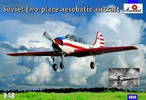 A-Model-From-Russia Yak52 2-Seater Soviet Aerobatic Aircraft Plastic Model Airplane Kit 1/148 Scale #4806