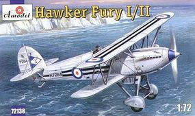 A-Model-From-Russia Hawker Fury I/II USAF BiPlane Fighter Plastic Model Airplane Kit 1/72 Scale #72138