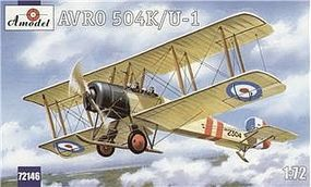 A-Model-From-Russia Avro 504K/U1 Two-Seater Trainer/Recon BiPlane Plastic Model Airplane Kit 1/72 Scale #72146