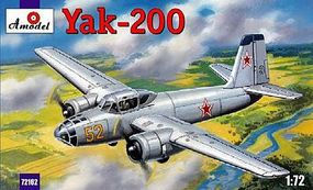 A-Model-From-Russia Yak200 Soviet Trainer Aircraft Plastic Model Airplane Kit 1/72 Scale #72162