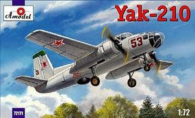 A-Model-From-Russia Yak210 Soviet Trainer Aircraft Plastic Model Airplane Kit 1/72 Scale #72171