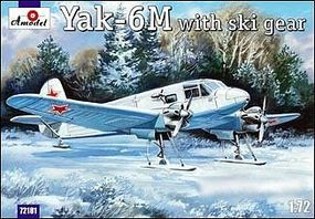 A-Model-From-Russia Yak6M Transport Aircraft w/Skis Plastic Model Airplane Kit 1/72 Scale #72181