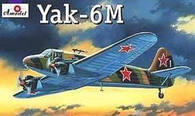A-Model-From-Russia Yak6M Soviet Light Transport Aircraft Plastic Model Airplane Kit 1/72 Scale #72182