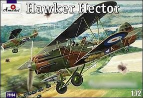 A-Model-From-Russia Hawker Hector British BiPlane Fighter Plastic Model Airplane Kit 1/72 Scale #72194
