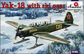 A-Model-From-Russia Yak18 Soviet Fighter w/Ski Gear Plastic Model Airplane Kit 1/72 Scale #72195