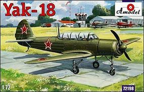 A-Model-From-Russia Yak18 M12 Soviet Aircraft Plastic Model Airplane Kit 1/72 Scale #72198