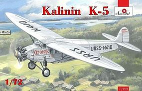 A-Model-From-Russia Kalinin K5 Soviet Airliner Plastic Model Airplane Kit 1/72 Scale #72199