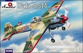 A-Model-From-Russia Yak55M Soviet Aerobatic Aircraft Plastic Model Airplane Kit 1/72 Scale #72200