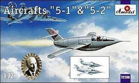 A-Model-From-Russia 5-1 (5-2) Soviet Glider Aircraft Plastic Model Airplane Kit 1/72 Scale #72206