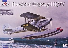 A-Model-From-Russia Hawker Osprey III/IV British BiPlane Fighter Plastic Model Airplane Kit 1/72 Scale #72241