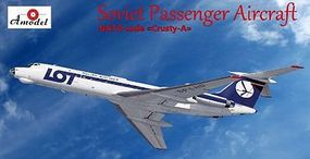 A-Model-From-Russia Tu134 LOT Airliner Plastic Model Airplane Kit 1/72 Scale #72249