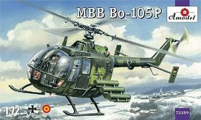 A-Model-From-Russia MBB Bo105P Plastic Model Helicopter Kit 1/72 Scale #72259