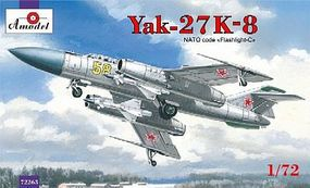 A-Model-From-Russia Yak27K8 Interceptor Aircraft Plastic Model Airplane Kit 1/72 Scale #72263