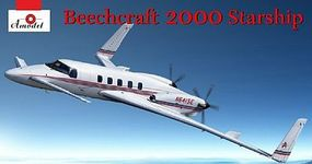 A-Model-From-Russia Beechcraft 2000 Starship N641SE Aircraft Plastic Model Airplane Kit 1/72 Scale #7227
