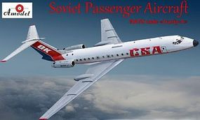 A-Model-From-Russia Tupolev Tu134A CSA Aircraft Plastic Model Airplane Kit 1/72 Scale #72278