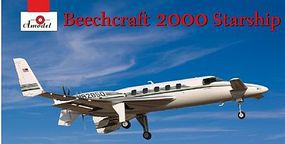 A-Model-From-Russia Beechcraft 2000 Starship N82850 Aircraft Plastic Model Airplane Kit 1/72 Scale #7227