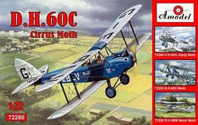 A-Model-From-Russia DH60C Cirrus Moth 2-Seater Biplane Plastic Model Airplane Kit 1/72 Scale #72280