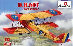A-Model-From-Russia DH60T Moth Trainer 2-Seater Biplane Plastic Model Airplane Kit 1/72 Scale #72284