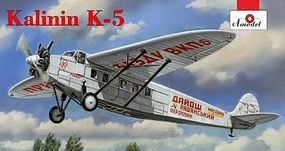 A-Model-From-Russia Kalinin K5 Soviet Airliner Plastic Model Airplane Kit 1/72 Scale #72287