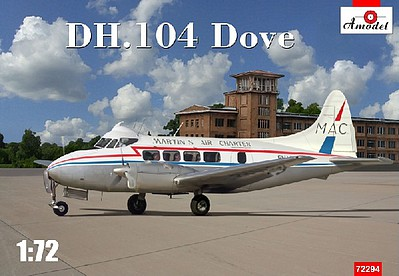 A-Model From Russia 1/72 DH104 Dove Air Charter Passenger Airliner