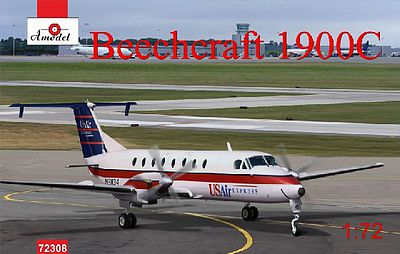 A-Model From Russia Beechcraft 1900C US Air Express Aircraft -- Plastic Model Airplane Kit -- 1/72 Scale -- #7230