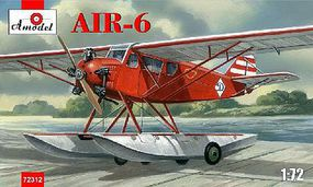 A-Model-From-Russia AIR6 Soviet Floatplane Plastic Model Airplane Kit 1/72 Scale #72312