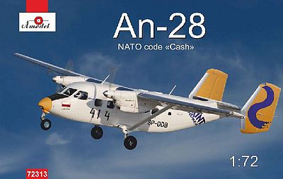A-Model From Russia Antonov An28 NATO Code Polish Airlines -- Plastic Model Airplane Kit -- 1/72 Scale -- #72313