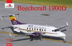 A-Model-From-Russia Beechcraft 1900D Mesa Airlines Aircraft Plastic Model Airplane Kit 1/72 Scale #72317