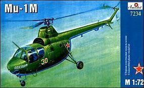 A-Model-From-Russia Mi1M Russian Helicopter Plastic Model Helicopter Kit 1/72 Scale #7234