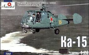 A-Model-From-Russia Kamov Ka15 Co-Axial Helicopter Plastic Model Helicopter Kit 1/72 Scale #7242