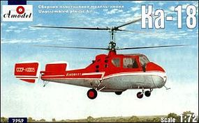 A-Model-From-Russia Kamov KA18 Soviet Helicopter Plastic Model Helicopter Kit 1/72 Scale #7252