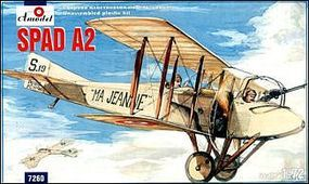 A-Model-From-Russia SPAD A2 French WWI BiPlane Fighter Plastic Model Airplane Kit 1/72 Scale #7260