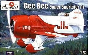 A-Model-From-Russia Gee Bee Super Sportster R1 Aircraft Plastic Model Airplane Kit 1/72 Scale #7267