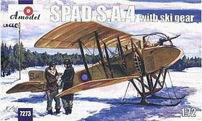A-Model-From-Russia SPAD SA4 WWI BiPlane Fighter w/Skis Plastic Model Airplane Kit 1/72 Scale #7273