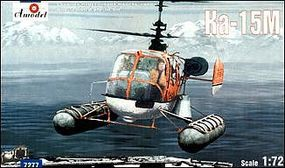A-Model-From-Russia KA15M Soviet Multi-Purpose Helicopter w/Floats Plastic Model Helicopter Kit 1/72 Scale #727