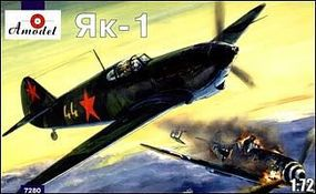 A-Model-From-Russia Yak1 Late Version Soviet Fighter Plastic Model Airplane Kit 1/72 Scale #7280