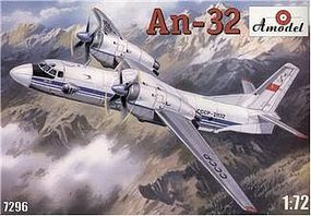 A-Model-From-Russia Antonov An32 Soviet Transport Aircraft Plastic Model Airplane Kit 1/72 Scale #7296