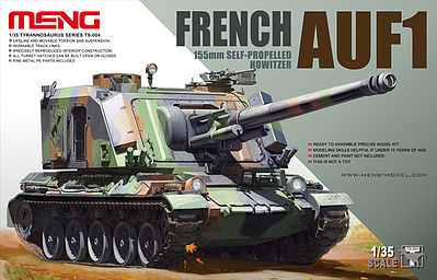 Meng Model Kits French AUF1 155mm Howitzer -- Plastic Model Military Vehicle Kit -- 1/35 Scale -- #ts004