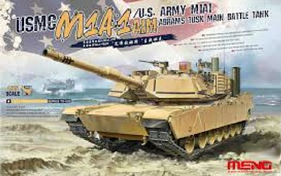 Meng Model Kits USMC M1A1 AIM/US Army M1A1 Abrams Tusk MBT -- Plastic Model Military Vehicle Kit -- 1/35 -- #ts32
