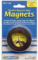 Magnet-Source .5 x 30 x .060 Thick Flexible Magnetic Tape w/Adhesive (Roll)