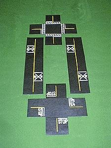 Mini Highways Railroad Crossing & Intersection -- Model Railroad Road Accessory -- HO Scale -- #205