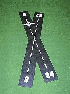 Mini Highways Airport Runway 3' -- Model Railroad Road Accessory -- HO Scale -- #209