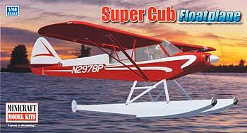 Minicraft Models Piper Super Cub w/Floats Bush Plane -- Plastic Model Airplane Kit -- 1/48 Scale -- #11663