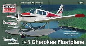 Minicraft Piper Cherokee Float Plane Plastic Model Airplane Kit 1/48 Scale #11674