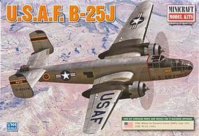 Minicraft B-25 H/J USAF Post-War Plastic Model Airplane Kit 1/144 Scale #14653