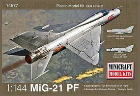 Minicraft MIG 21 Plastic Model Airplane Kit 1/144 Scale #14677