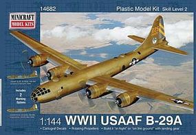Minicraft B-29A Early Service Colors Plastic Model Airplane Kit 1/144 Scale #14682